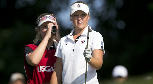 Brooke Mackenzie Henderson has a 2-up lead after 18 holes of the final at the U.S. Women's Amateur.