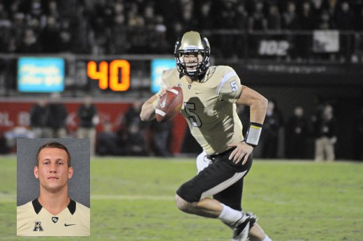 Pete DiNovo (inset) will have big shoes to fill, replacing Blake Bortles, the former UCF Knight QB turned Jacksonville Jaguar who led the Knights to their best season of all time in 2013.