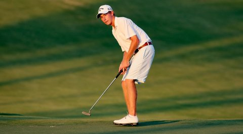 Lee McCoy's birdie putt on the par-4 9th hole on the Highlands course settled on the lip, leaving the Georgia junior in a tie for medalist honors.