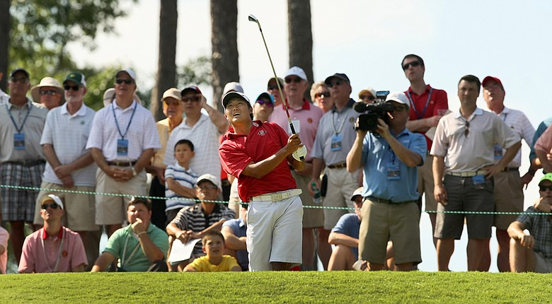 Gunn Yang took down Ollie Schniederjans in the Round of 16 at the U.S. Amateur on Thursday.