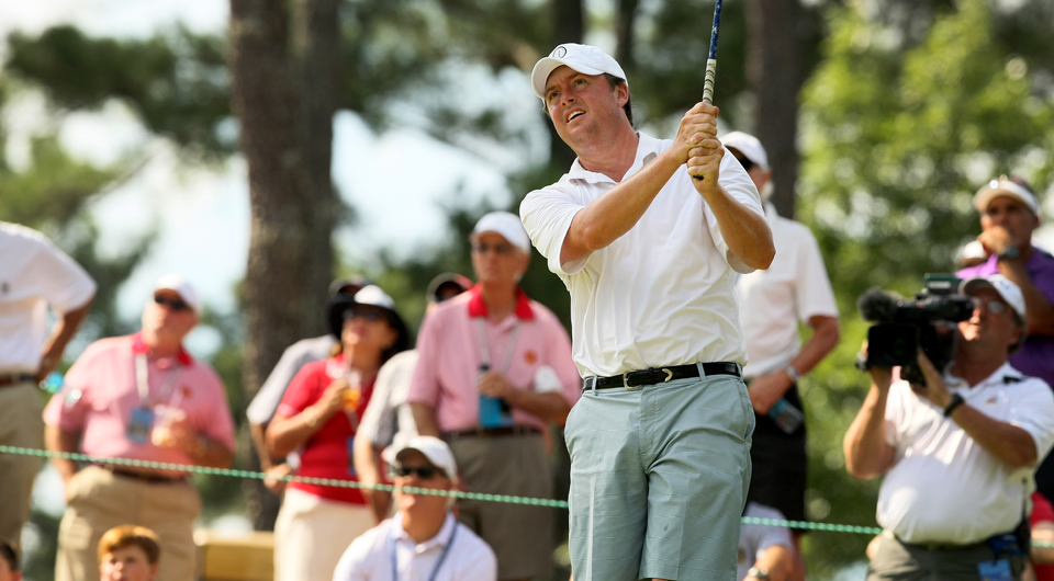 Nathan Smith continued his run through the U.S. Amateur on Thursday afternoon, knocking off Byron Meth in 21 holes to move into the quarterfinals for the first time.