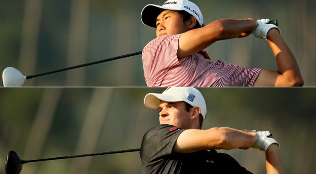 Gunn Yang (top) and Corey Conners will face off in Sunday's U.S. Amateur final.
