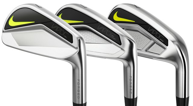 Nike Vapor irons: Pro (from left), Pro Combo and Speed.