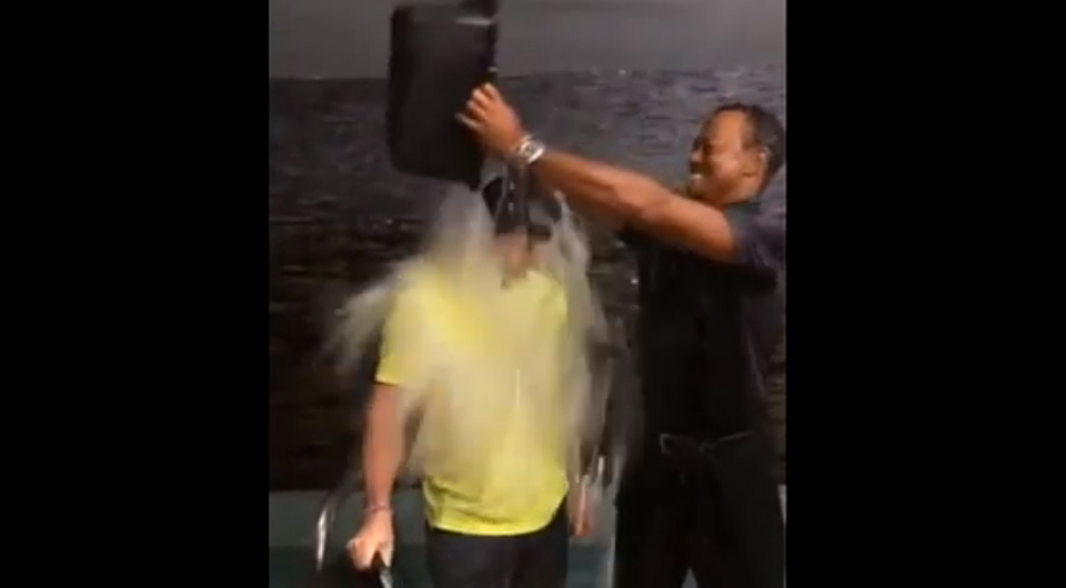 The Ice Bucket Challenge has taken the sports world by storm, and the latest superstars to get in on the action are Tiger Woods and Rory McIlroy ? together.