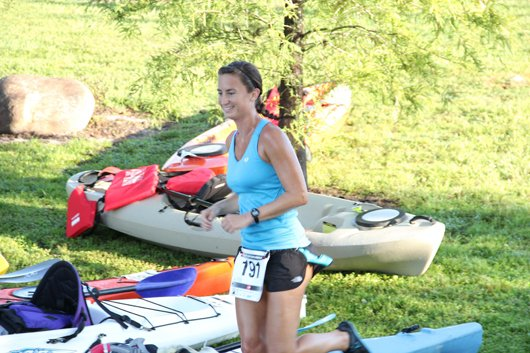 Casselberry's race seems to take on a more leisurely bent during the paddling part, attracting mostly runners who are looking for a new challenge.