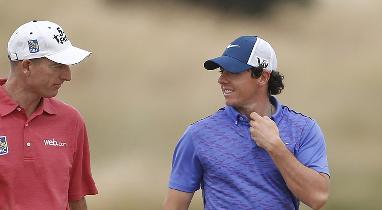 Rory McIlroy and Jim Furyk are considered favorites for The Barclays to open the PGA Tour's 2014 FedEx Cup playoffs (shown here at last month's British Open).