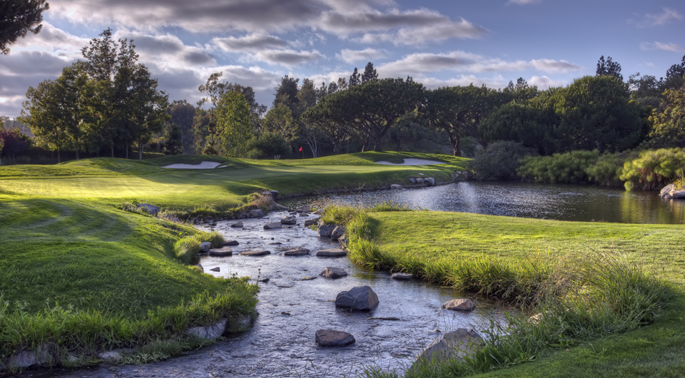 There is nothing more exciting than a par-5 hole that demands clear thinking and the execution of a strategy. Big Canyon Country Club, host of the 2014 U.S. Senior Amateur, has such an 18th hole.