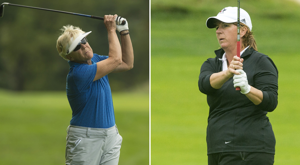 Joan Higgins and Judith Kyrinis will meet in Thursday's 2014 U.S. Senior Women's Amateur final -- but they didn't get their without first needing comebacks in the semifinals.