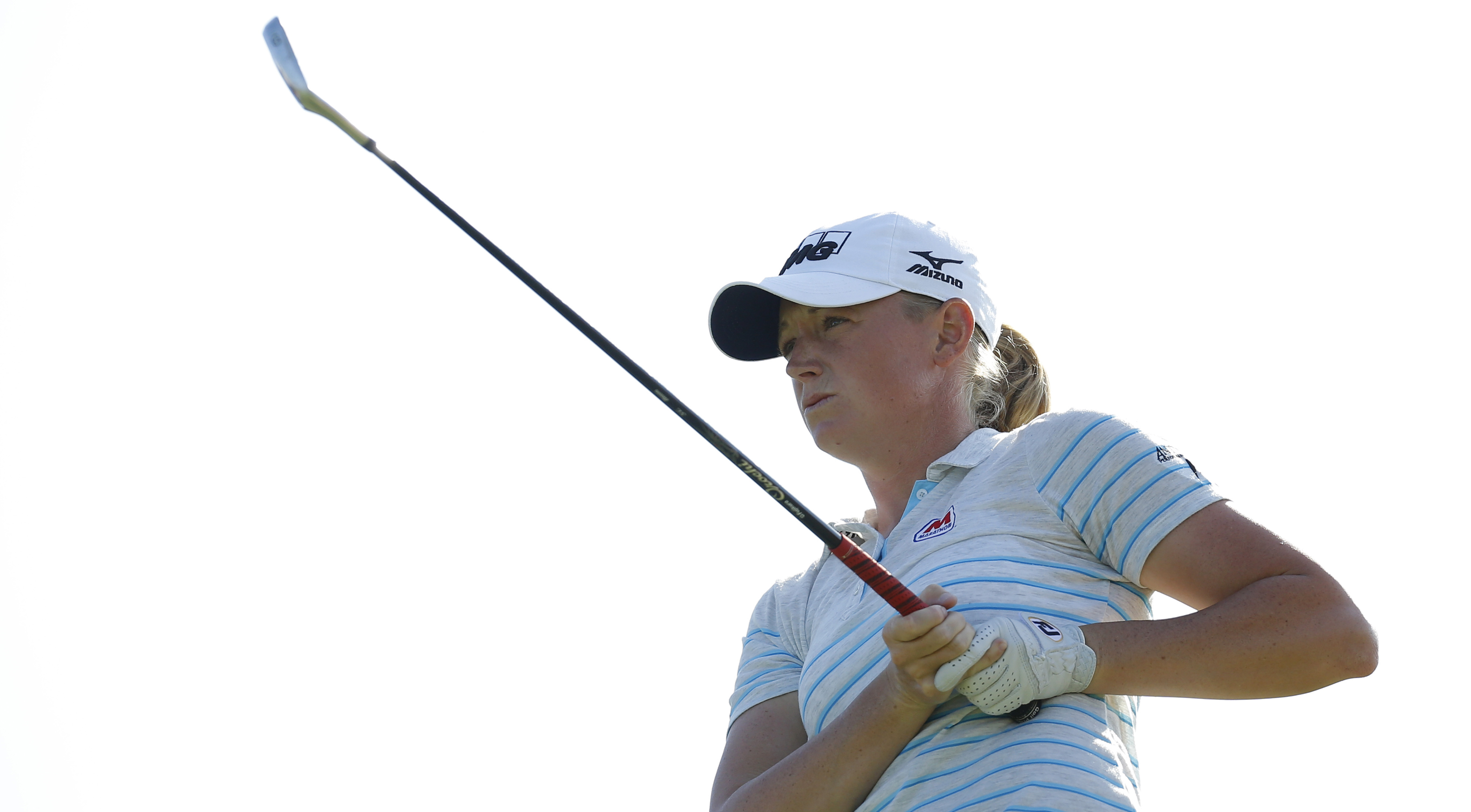 Stacy Lewis fired a 64 at the Robert Trent Jones Golf Trail (Senator), sharing the first-round lead with Mi Jung Hur.