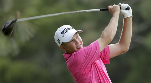 Zac Blair leads at the Web.com Tour Championship.