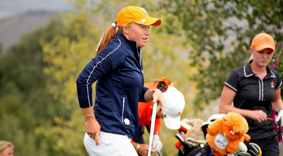 Tennessee carded the best round of the day, a 9-over 297, Tuesday at Red Sky Golf Club to join Pepperdine in the lead at 6 over entering the final round of the Golfweek Women's Conference Challenge.