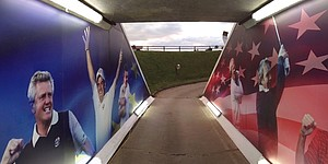 Ryder Cup tunnel's mural has interesting choice