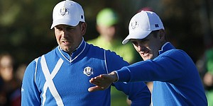 Rose and Stenson make steady team for Europe