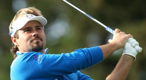 Victor Dubuisson during the 2014 Ryder Cup at Gleneagles in Scotland.