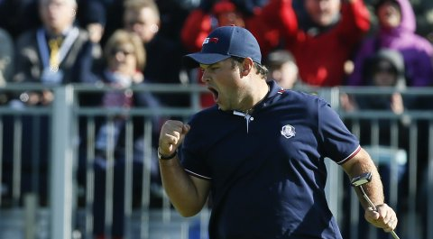 Patrick Reed during the 2014 Ryder Cup at Gleneagles in Scotland.