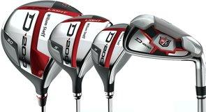 Wilson Golf D200 drivers, irons, hybrids, fairway woods