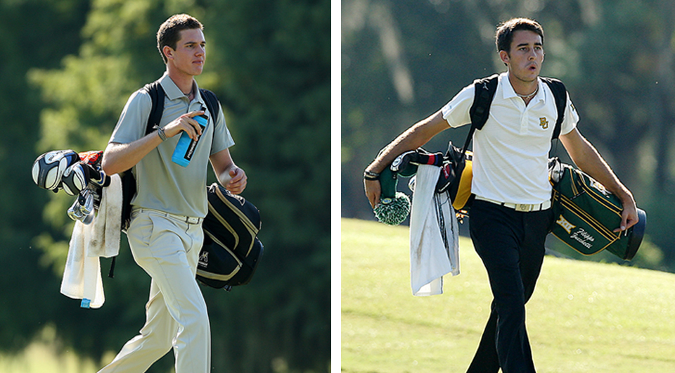 UCF's Federico Zucchetti and Baylor's Filippo Zucchetti play together at the Tavistock Collegiate Invitational as their Italian mother looks on.