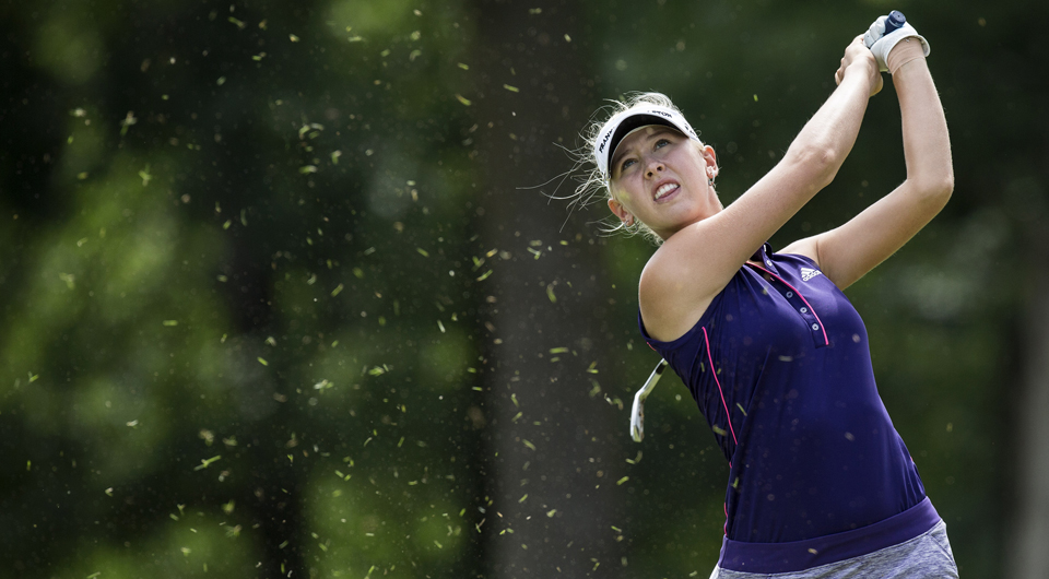 Jessica Korda took the first-round lead at the Blue Bay LPGA in China, but it was Danielle Kang who made the shot of the day: a hole-in-one on the 155-yard 17th.