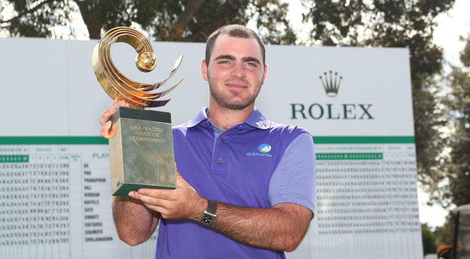 Antonio Murdaca became the first Australian winner of the Asia-Pacific Amateur on Sunday, and will reap the benefits on the other side of the world in April.