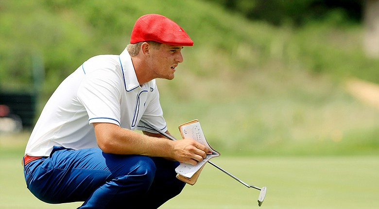 "Bryson Dechambeau, a junior at SMU, has used a ""unique"" swing to become one of the top players in college golf."