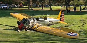 Reports: Harrison Ford hospitalized after plane crashes onto golf course