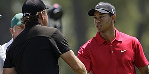 In Masters rivalries, Woods-Mickelson among the best