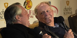 Nicklaus, Player take trip down memory lane at Legends of Golf