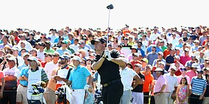 McIlroy makes third stop on 5-week run 'happy' with game