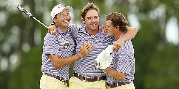 LSU's Taylor holes deciding putt for Tigers' first NCAA title since 1955