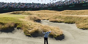 Severe hole locations overshadow modest yardages on Day 1 at Chambers Bay