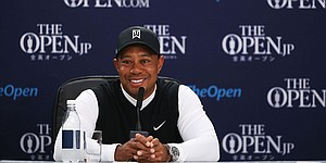 Tiger Woods talks about career resurrection despite being longshot at St. Andrews