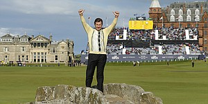 Nick Faldo's final British Open stroll around St. Andrews ends early