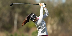 Youngin Chun leads ANNIKA Invitational, learns from pros