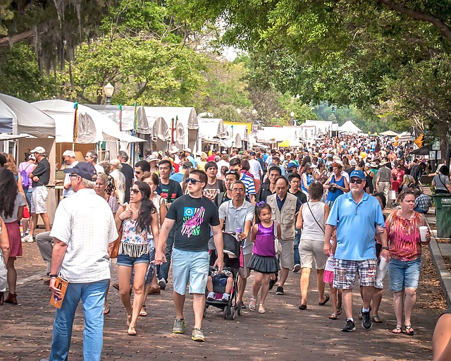 More than 350,000 visitors are expected at the Winter Park Sidewalk Art Festival this weekend.
