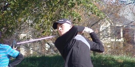 Austin Greaser powers a drive during his victory at Vanderbilt Legends Club.