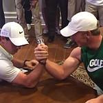Junior golfer Brad Dalke beats Rory McIlroy in arm wrestling