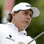 VIDEO: Mickelson's backward flop shot ends up in bunker at Barclays