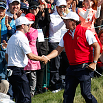 VIDEO: Mickelson's bunker hole-out, handshake with Z. Johnson at Presidents Cup