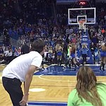 VIDEO: Bubba Watson half-court shot at Magic game ... gets stuck on rim