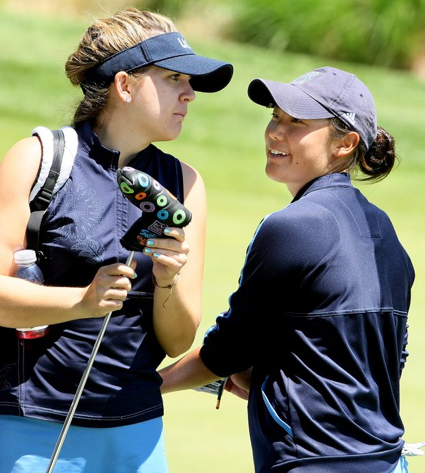 Tiffany Joh, right, and Sydnee Michaels, left, of UCLA both contributed to UCLA's success this season.