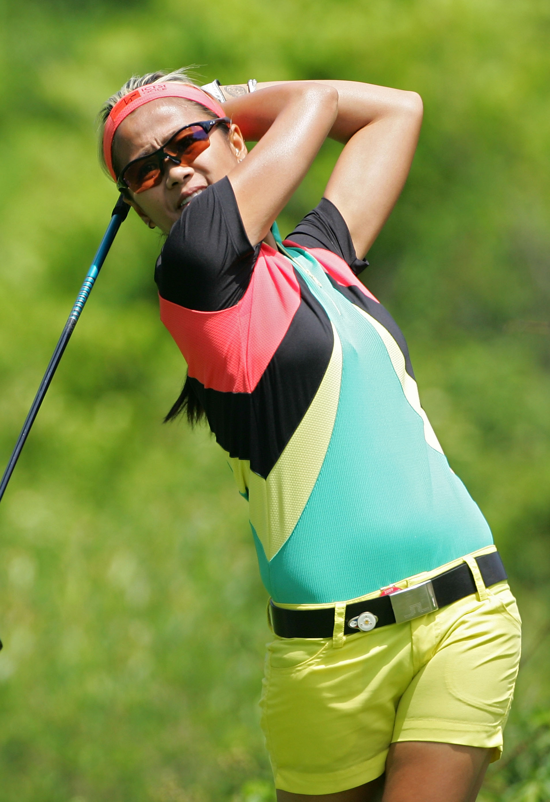 Jennifer Rosales was a little ray of sunshine, or more like a pint of sorbet this weekend at the LPGA Wegman's Classic.