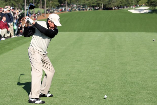 Gary Player will begin his 52nd and final Masters at 9:28 a.m. alongside Luke Donald and Stephen Ames.