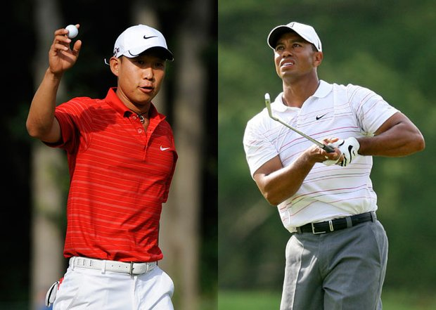 Tiger Woods will be paired with Anthony Kim for the first time ever in Sunday's final round.