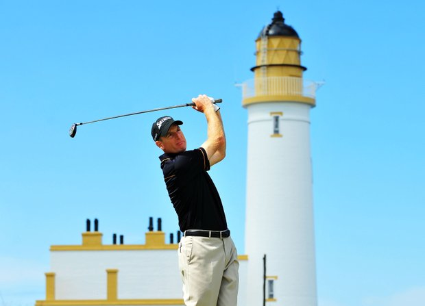 Jim Furyk hits a drive during the 2009 British Open at Turnberry.