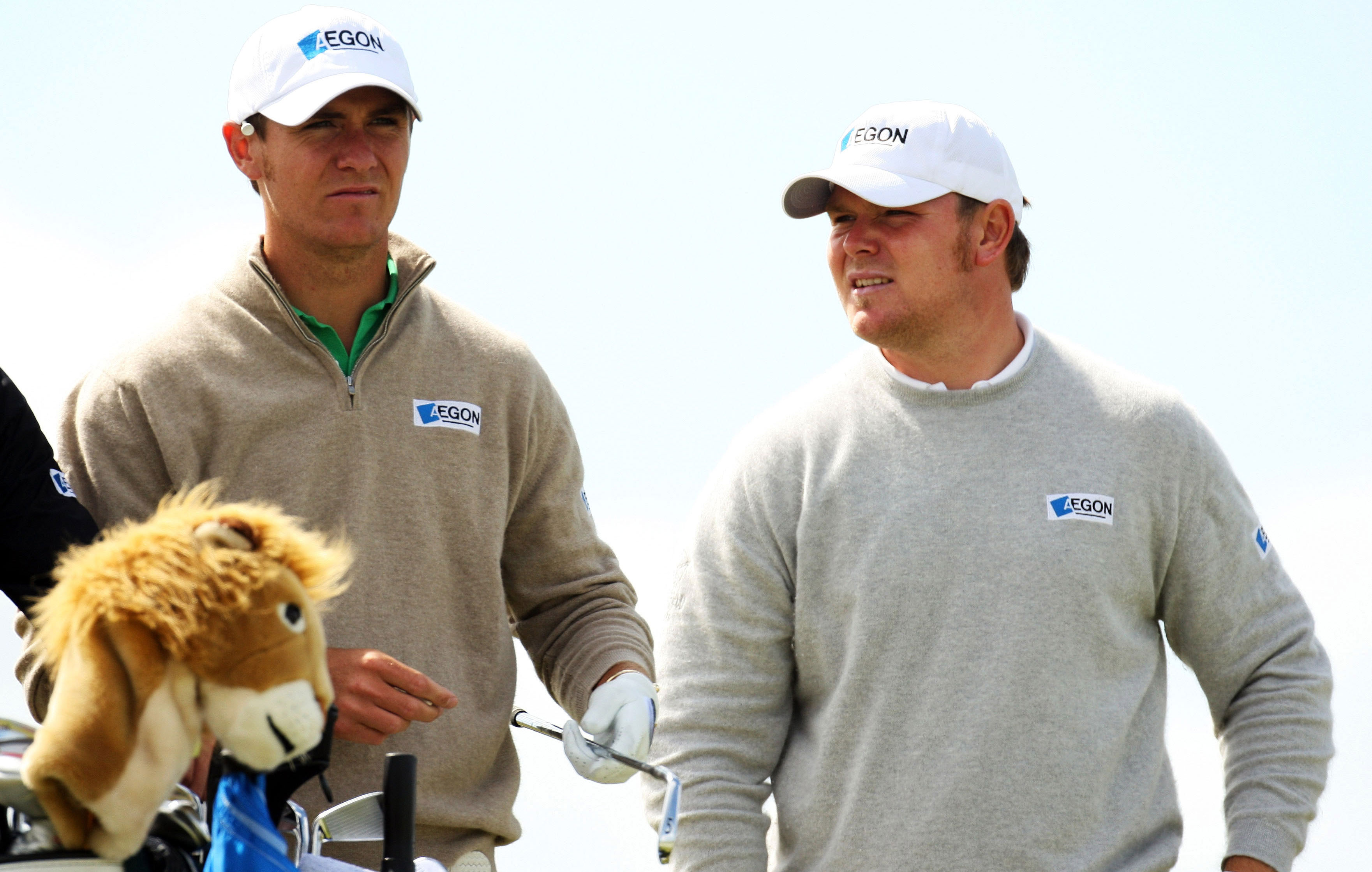 """Scotland's Elliot Saltman (left) had been under a cloud since he was accused of """"cheating"""" on the 2010 Challenge Tour. He got his card at Euro Q-School but might not get full use of it. He was banned for 3 months on Wednesday. Saltman is seen here with his brother, Lloyd."""