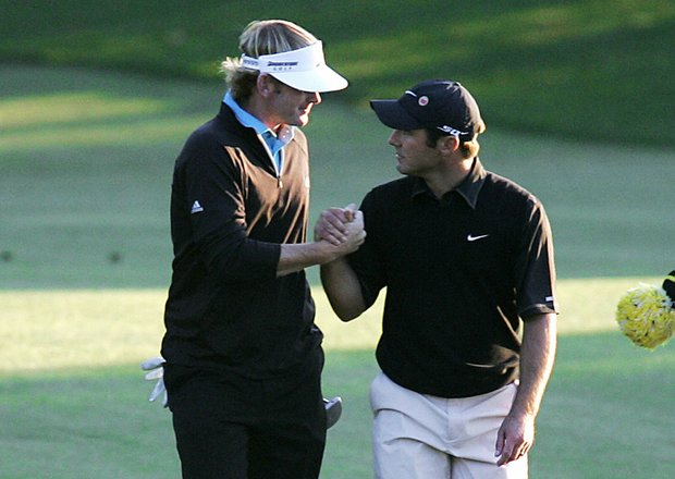 Former APL champions Brandt Snedeker and Trevor Immelman made up the final pairing at the 2008 Masters.