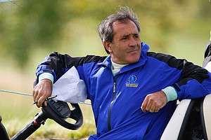 Seve Ballesteros, Captain of the European Team during the first day fourballs at the Seve Trophy 2007.