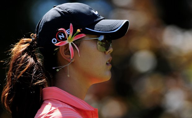 Michelle Wie during the final round of the Evian Masters at the Evian Masters Golf Club.