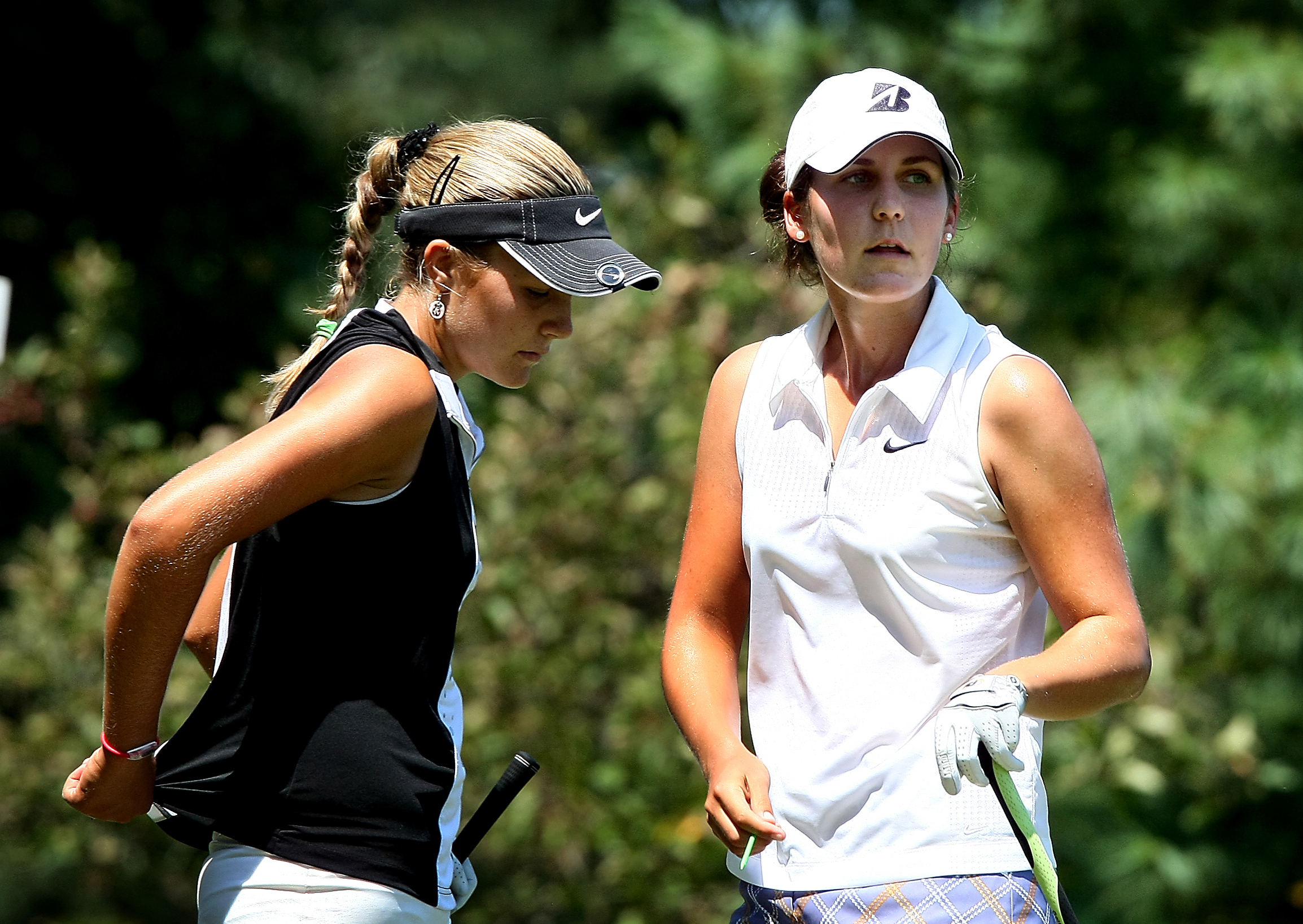Jennifer Johnson (right) knocked out Alexis Thompson in the semifinals of last summer's U.S. Women's Amateur.