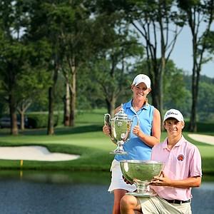 Amy Anderson, the 61st U. S. Girls' Junior Champion and Jordan Spieth, the 62nd U. S. Junior Amateur Champion.